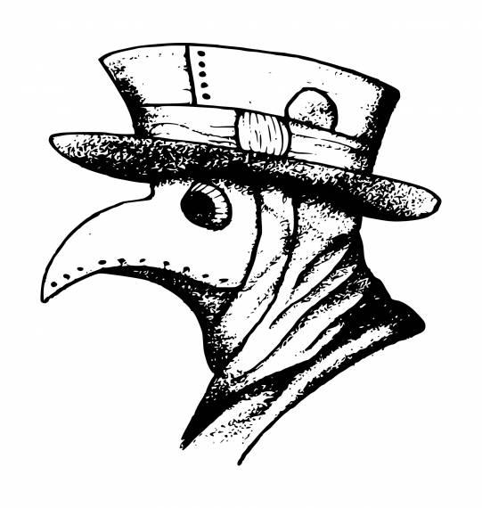 Plague Doctor Head PNG Transparent SVG Vector