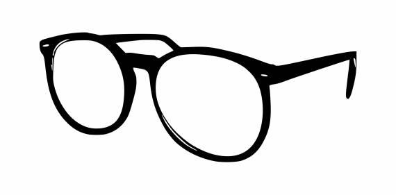 Reading Glasses Silhouette Frame PNG Transparent SVG Vector