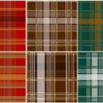 Scottish Tartan Textile Seamless Pattern Background (JPG)