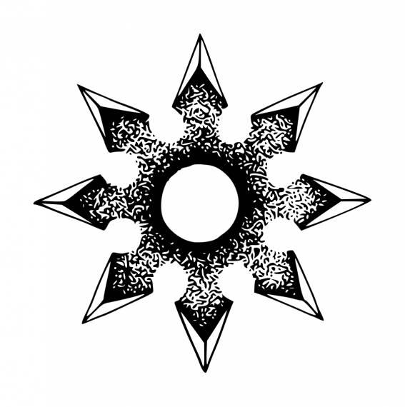 Shuriken Star PNG Transparent SVG Vector