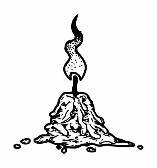 Small Burnt Candle Drawing PNG Transparent SVG Vector