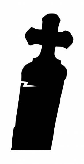 Spooky Grave Stone Silhouette PNG Transparent SVG Vector