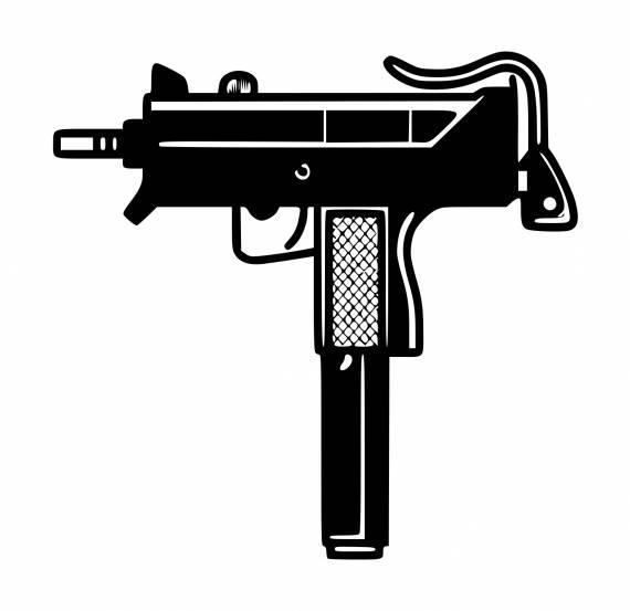 Uzi Rifle PNG Transparent SVG Vector