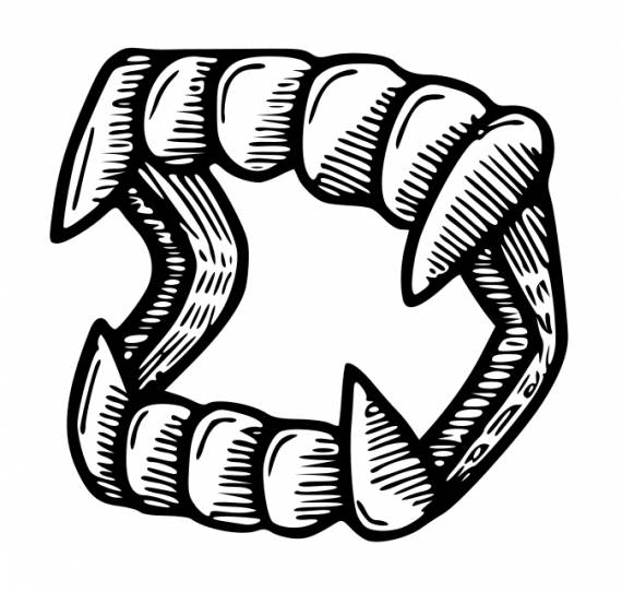 Vampire Teeth Fangs Drawing PNG Transparent SVG Vector