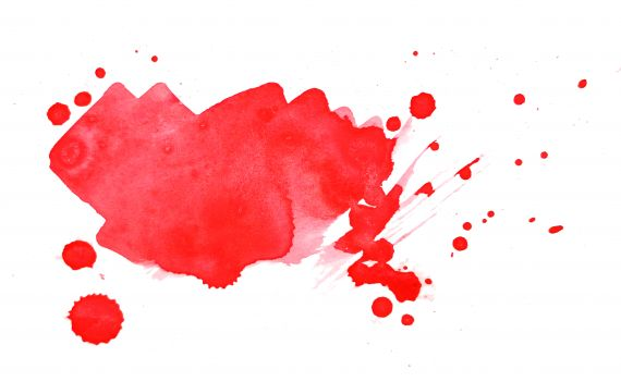 Abstract Red Watercolor Splash White Background JPG