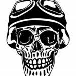 Aviator Skull Tattoo PNG Transparent SVG Vector