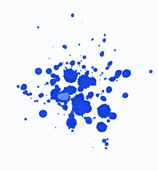Blue Abstract Watercolor Splash White Background JPG