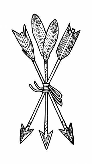 Bow Arrow Tattoo PNG Transparent SVG Vector