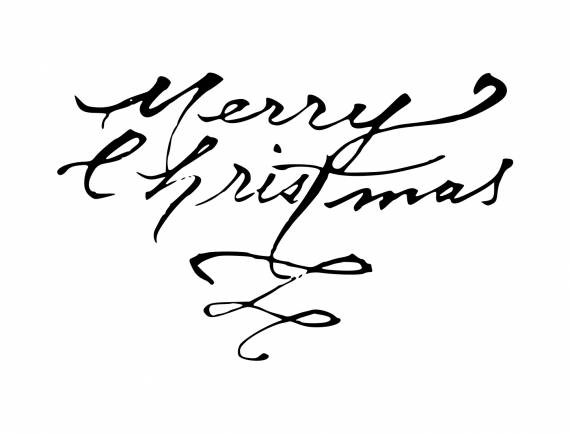 Calligraphy Merry Christmas PNG Transparent SVG Vector
