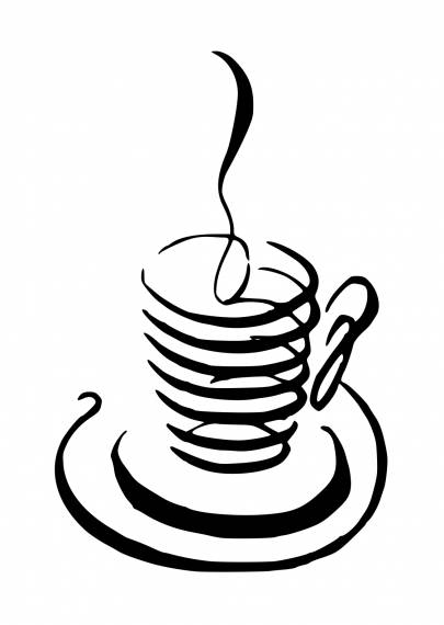Coffee Cup Pen Drawing PNG Transparent SVG Vector
