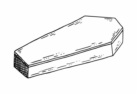 Coffin Drawing PNG Transparent SVG Vector