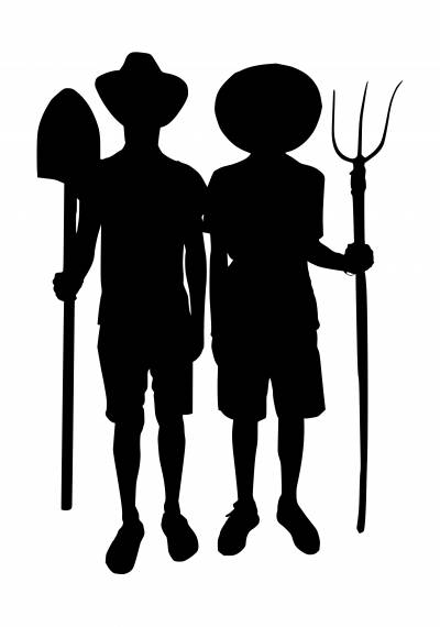 Farmers Silhouette PNG Transparent SVG Vector