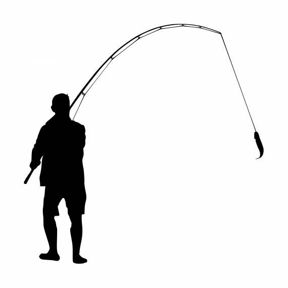 Fisherman Catch Bait Silhouette PNG Transparent SVG Vector