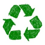 Green Recycle Icon Drawing PNG Transparent