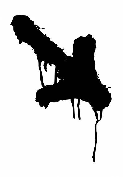 Grunge Graffiti Arrow Down PNG Transparent SVG Vector