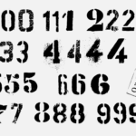 Grunge Stencil Numbers (PNG Transparent)
