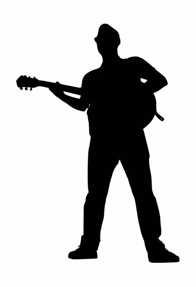 Guitar Player Silhouette PNG Transparent SVG Vector