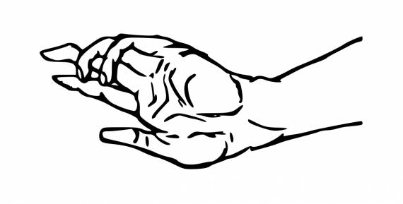 Hand Reaching Out Drawing PNG Transparent SVG Vector