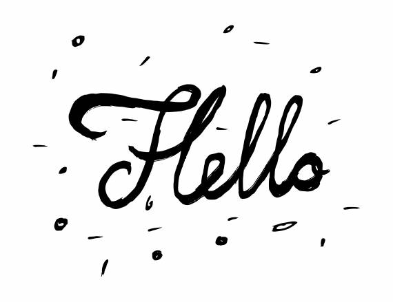 Hello Inscription Greeting Card Calligraphy PNG Transparent SVG Vector