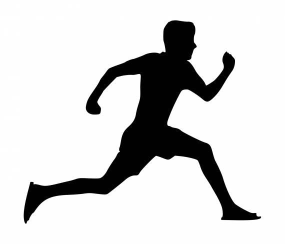 Jump Run Silhouette PNG Transparent SVG Vector
