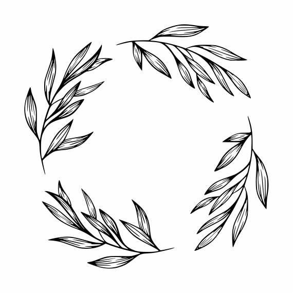 Leaf Circle Frame PNG Transparent SVG Vector