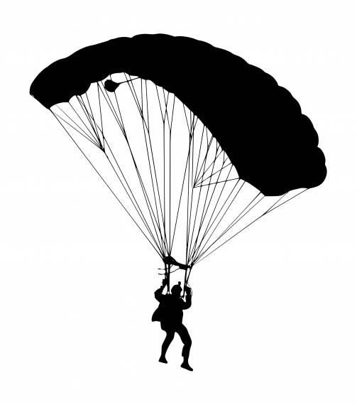 Military Paratrooper Parachute Silhouette PNG Transparent SVG Vector