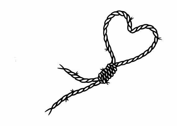 Noose Rope Heart Shape PNG Transparent SVG Vector