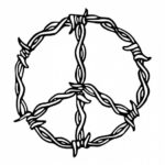 Peace Sign Barbed Wire PNG Transparent SVG Vector