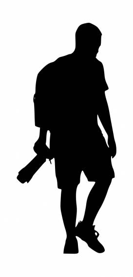 Photographer With Backpack Silhouette PNG Transparent SVG Vector