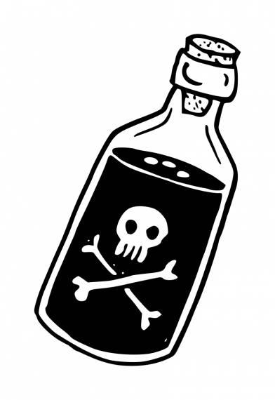 Poison Bottle PNG Transparent SVG Vector