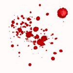 Red Abstract Watercolor Splash White Background JPG