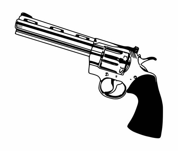 Revolver Gun PNG Transparent SVG Vector