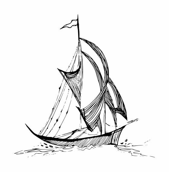 Ship Drawing PNG Transparent SVG Vector