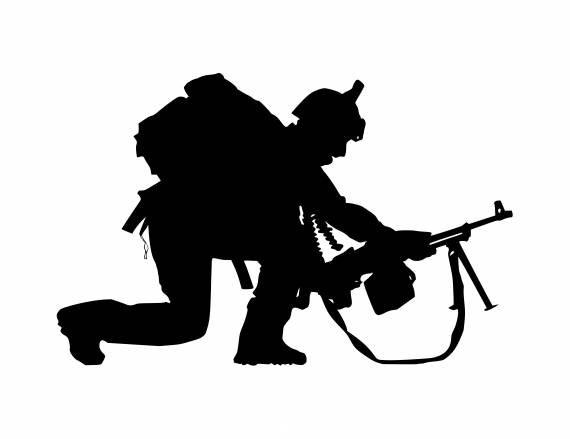Soldier Lay Down Silhouette PNG Transparent SVG Vector