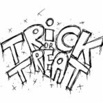 Trick or Treat Hand Drawn Lettering PNG Transparent SVG Vector