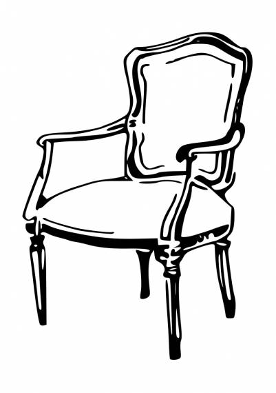 Vintage Chair Drawing PNG Transparent SVG Vector