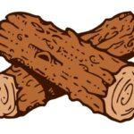 Wood Logs Cartoon PNG Transparent