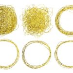Gold Scribble Scratch Circle (PNG Transparent)