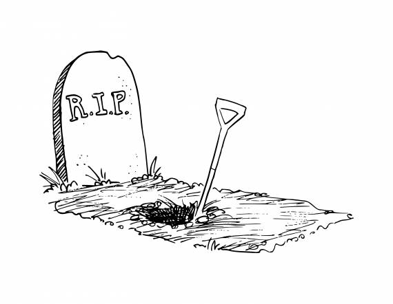 Grave Rip Drawing PNG Transparent SVG Vector