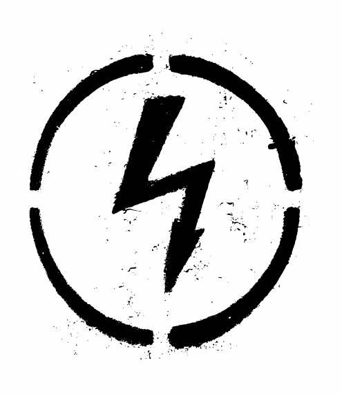 Stencil High Voltage Sign PNG Transparent SVG Vector