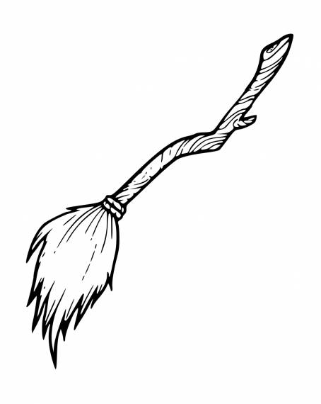Witches Broomstick Drawing PNG Transparent SVG Vector